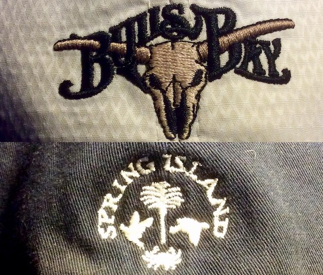 We love how the Bulls Bay logo incorporates the word's with the bull skull's horns.