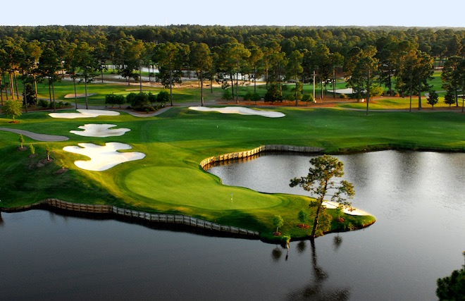 King's North at Myrtle Beach National Golf Club is one of many top-level courses where kids can play free along the Grand Strand. (Myrtle Beach Golf Holiday)