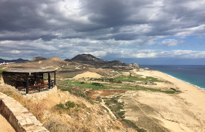 From the clifftop first comfort station (foreground) to the oceanside practice facility (background) in addition to an engaging and scenic golf course, Quivira succeeds in crafting a memorable golf experience.