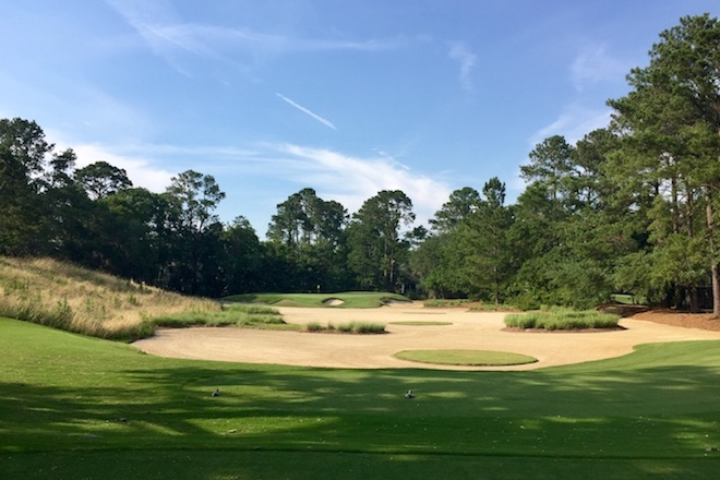 The par-3 17th at Caledonia