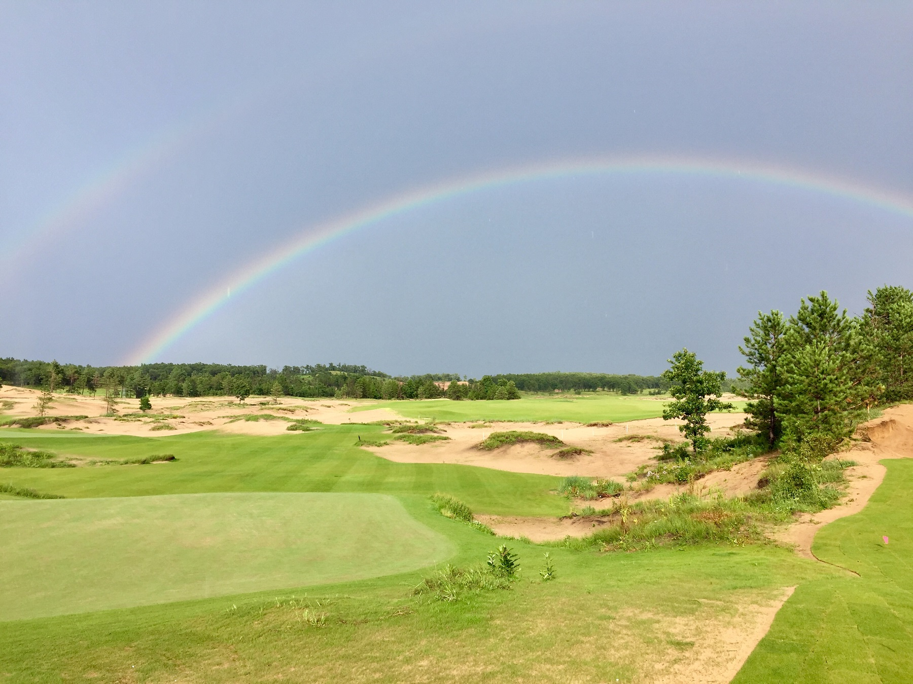 Rainbow over the Coore/Crenshaw 17-hole short course