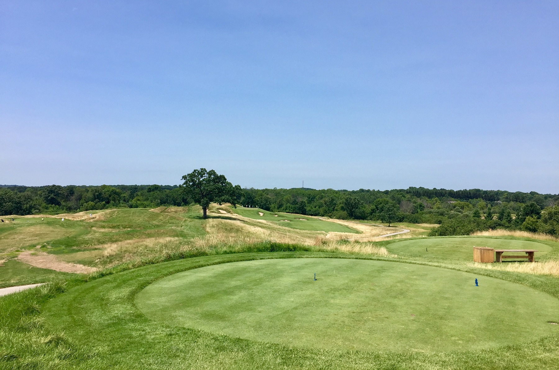 To amp up the drama of your round at Erin Hills, give yourself an eagle or birdie chance by moving forward a few tee boxes on 15.