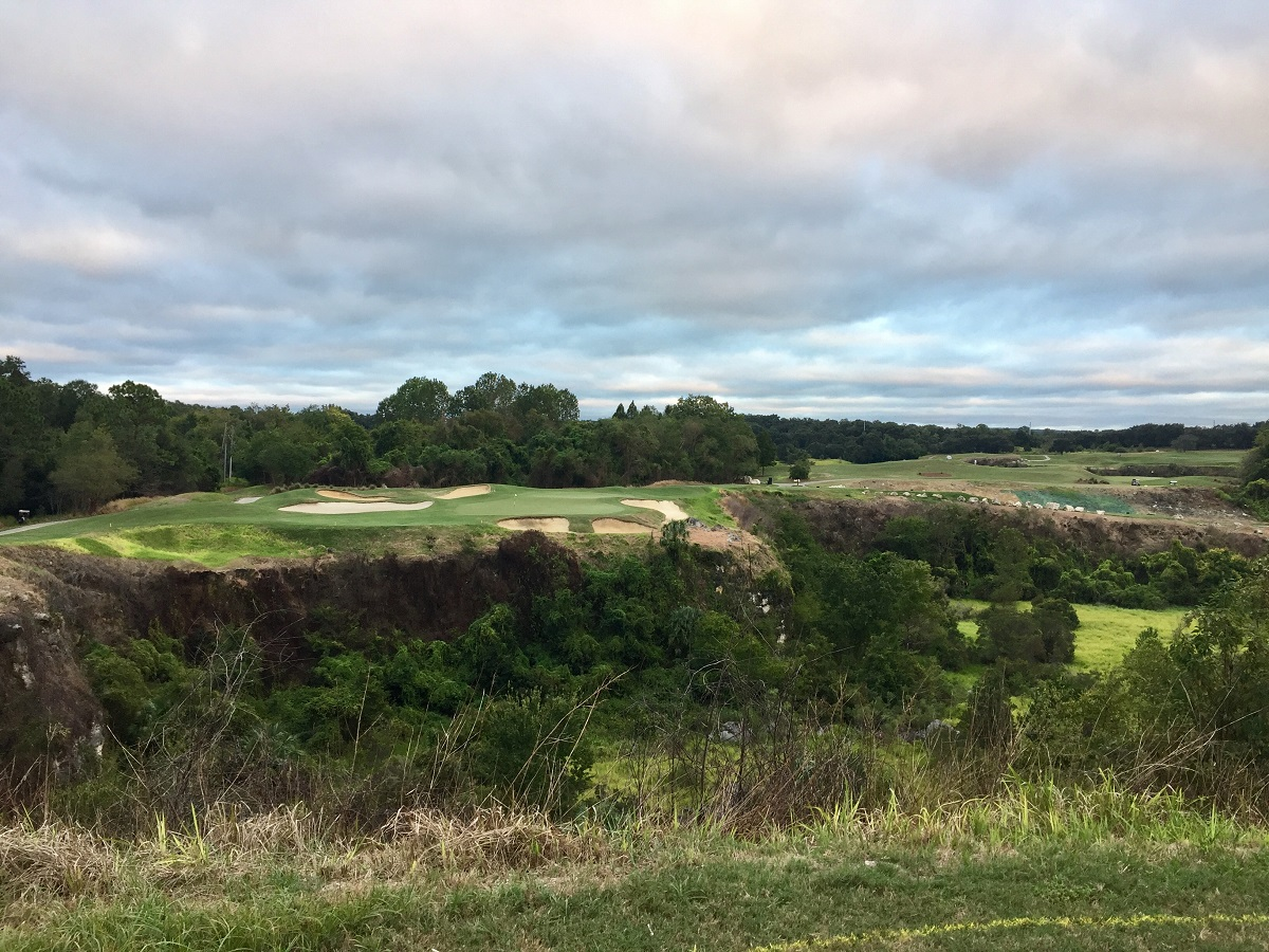 Once you reach the 13th tee at the Quarry Course, you take in a view you never expected to see in Florida golf.