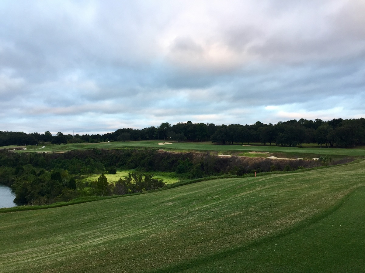 The dramatic 14th around the quarry rim is a hoot of a par five.