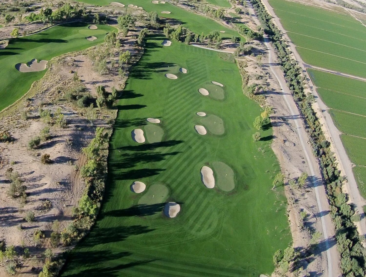 Ak-Chin Southern Dunes' #miniDunes layout is integrated with its driving range. (Ak-Chin Southern Dunes Golf Club)