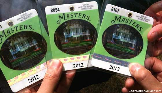2012 MASTERS TICKETS Available to the Public for the First Time in ...