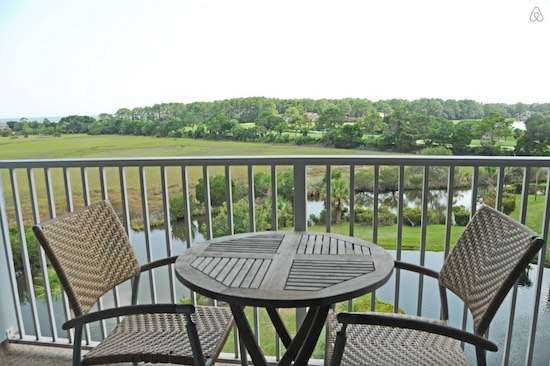 At $135 per night on Hilton Head during RBC Heritage week, this view looks even better than it normally would. (Airbnb user Bill)
