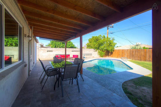 """This property bills itself as a """"party house,"""" and is therefore an ideal crash pad for a foursome of buddies looking to hit up Scottsdale for golf, food and revelry. (Airbnb user Leslie)"""
