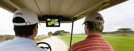 If I'm going to ride during a round of golf, I might as well be maximally informed. (ClubCar)
