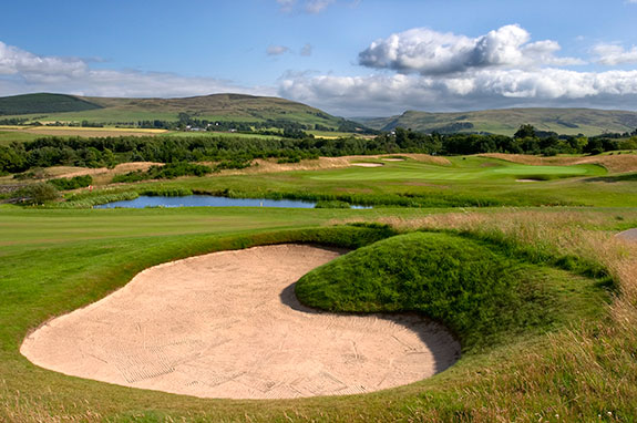 Gleneagles' PGA Centenary course is Scottish by location, but it plays American-soft and was designed by an American in Jack Nicklaus. (Courtesy of Gleneagles)