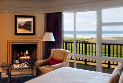 Inn at Spanish Bay guest room with ocean view