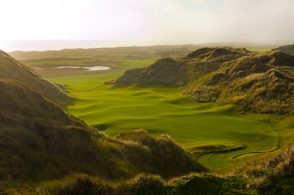 Trump International Golf Links near Aberdeen, Scotland, plays some of the most dramatic dunes we have seen. It would make a spectacular Open site. (Brian Morgan)