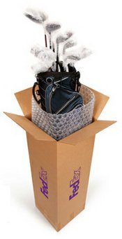 Nice, but not necessary. Assuming you pack it well, your golf travel bag with a FedEx label is all you need.