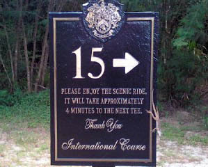 Have you come across unusual sights or signs like this on your golf vacations? Please share your stories below.