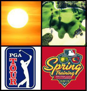 The Grand Slam of Golf Vacations - warm weather, golf, PGA Tour event, MLB baseball game