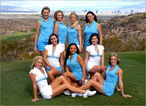 Rio Secco's T-Mates were the first dedicated female forecaddie corps available for Las Vegas golf vacations.
