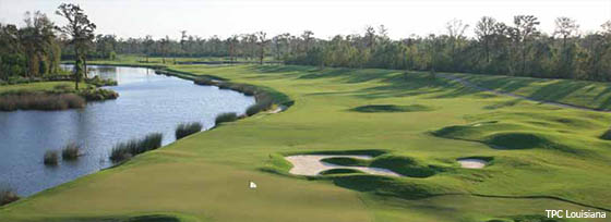 New Orleans golf vacations must include a round at TPC Louisiana, a Pete Dye design.
