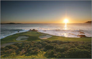Besides getting the benefit of a reduced fee, twilight may be when the Pebble Beach golf courses are at their prettiest.