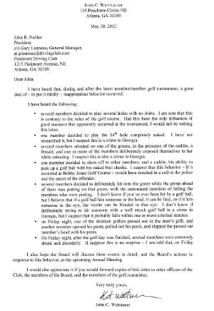 piedmont driving club letter