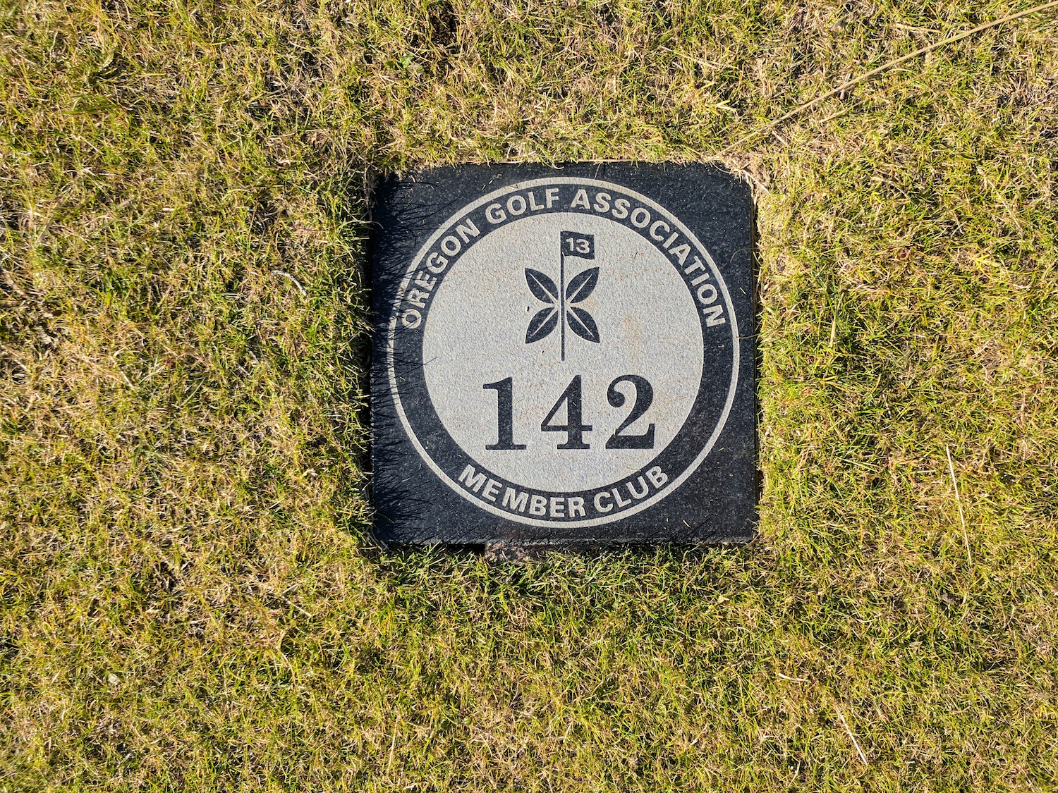 ...or this in-ground yardage marker at the Preserve.