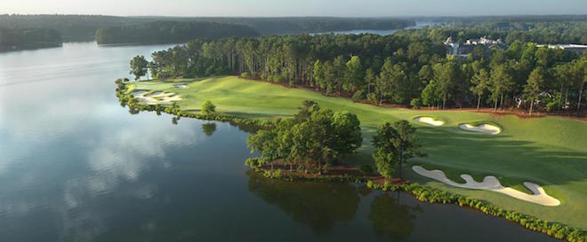 The Oconee saves its best for last: a stunning par four along the lake. (Reynolds Lake Oconee)