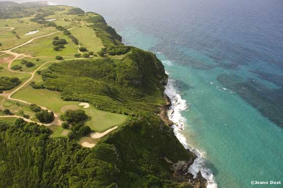 The 17th hole at Royal Isabela Golf Course