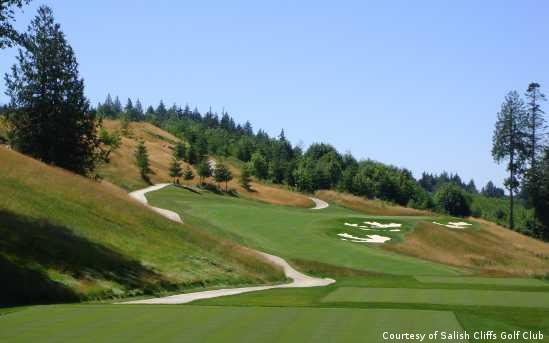 The newest of Washington golf courses, Salish Cliffs at the Little Creek Casino Resort shows off the beauty of the Pacific Northwest.