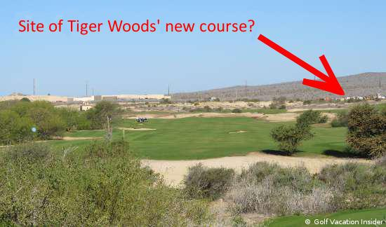 We were told that the highlighted area above will be part of Tiger Woods new golf course design in Cabo San Lucas, Mexico.
