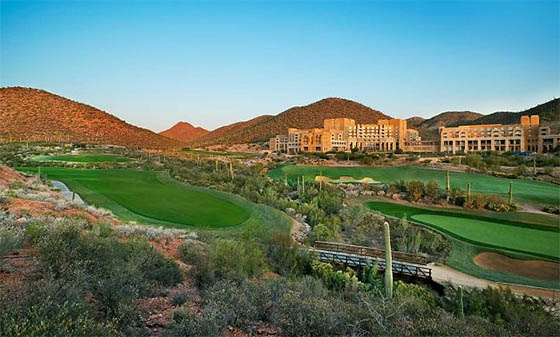 The JW Marriott Starr Pass Resort & Spa in Tucson, offers ice skating on Arizona golf vacations.