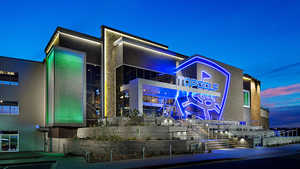 TopGolf Gilbert - Exterior by night