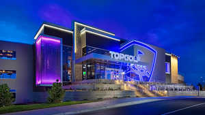 TopGolf Centennial - Exterior by night