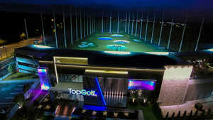 TopGolf Alpharetta - Exterior by night