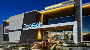TopGolf Austin - Exterior by night