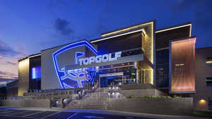 Topgolf Charlotte by night