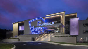 Topgolf Columbus by night