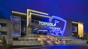 Topgolf Edison by night
