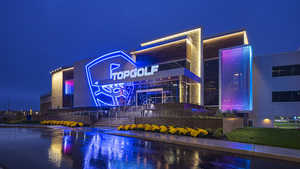 Topgolf Fishers by night