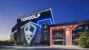 Topgolf Glendale by night