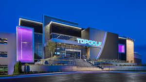Topgolf Loudoun by night