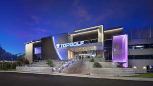 Topgolf Orlando by night