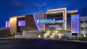 Topgolf Roseville by night