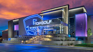 Topgolf Salt Lake City by night