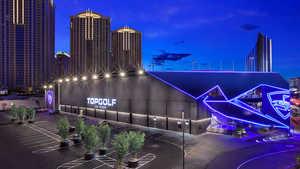Topgolf Las Vegas by night