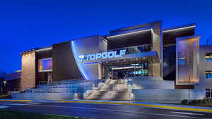 Topgolf Virginia Beach by night