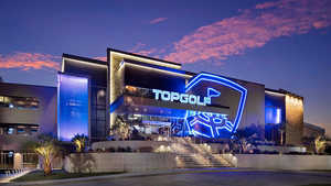 Topgolf Webster by night